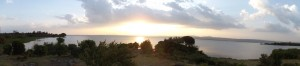 View over Lake Victoria from Duma Hill, Kisumu, Kenya